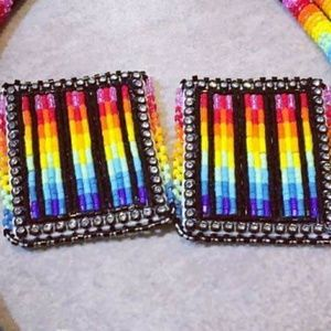 Native American Beadwork Earrings
